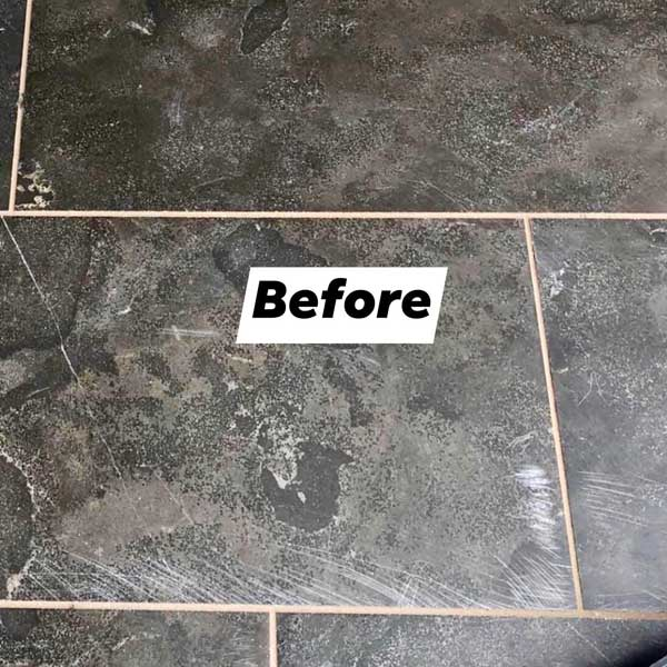 Travertine Cleaning and Polishing before